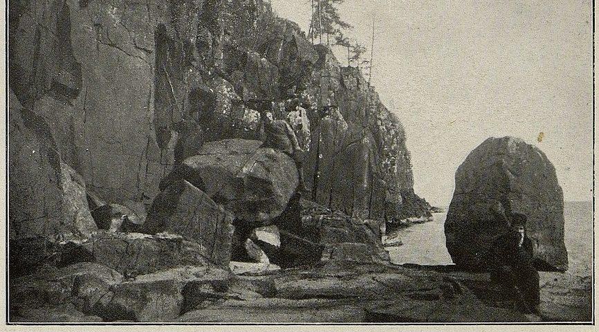 Скалы о. Валаама. 1914.