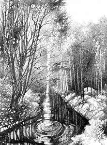 Куршин. Протока (река ``Иордан``) 29x20 1995 г
