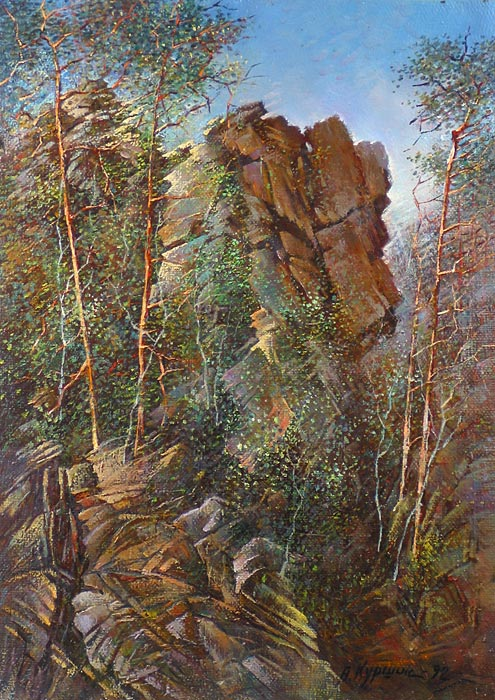 Куршин 123. Гора ``Елеон``. 68x47 Холст. Масло. 1992 г.