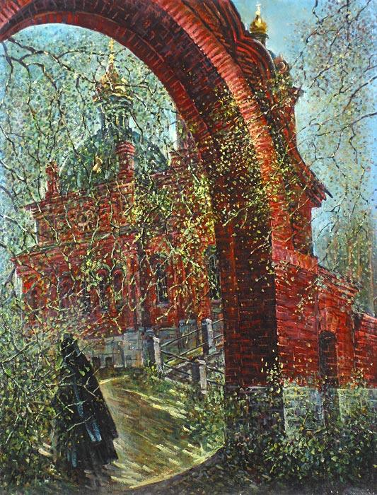 Куршин 59. Вход в ``Иерусалим``. 63x48 Холст. Масло. 1993 г.