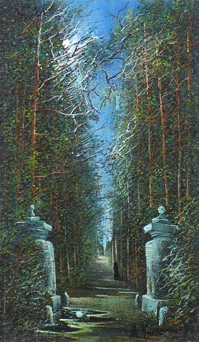Куршин 64. Гефсиманские ворота. 49x28 Холст. Масло. 1992 г.