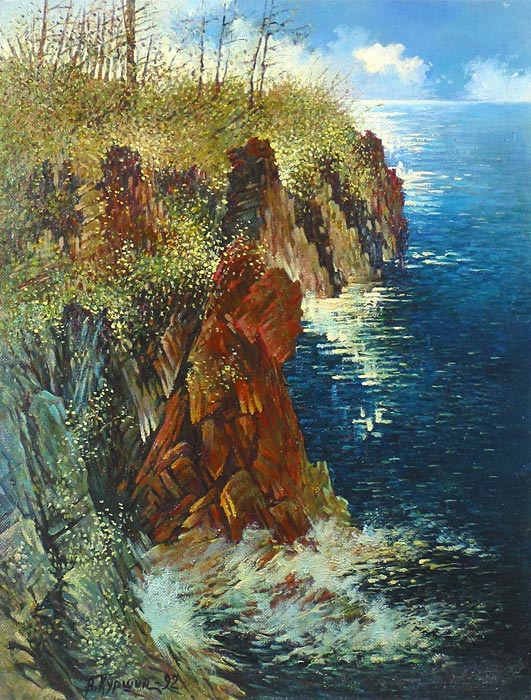 Куршин 67. Дивный остров. 63x48 Холст. Масло. 1992 г.