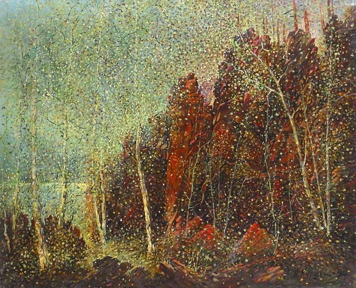 Куршин 74. Местность ``Кукко``. 67x54 Холст. Масло. 1985-1994 г.