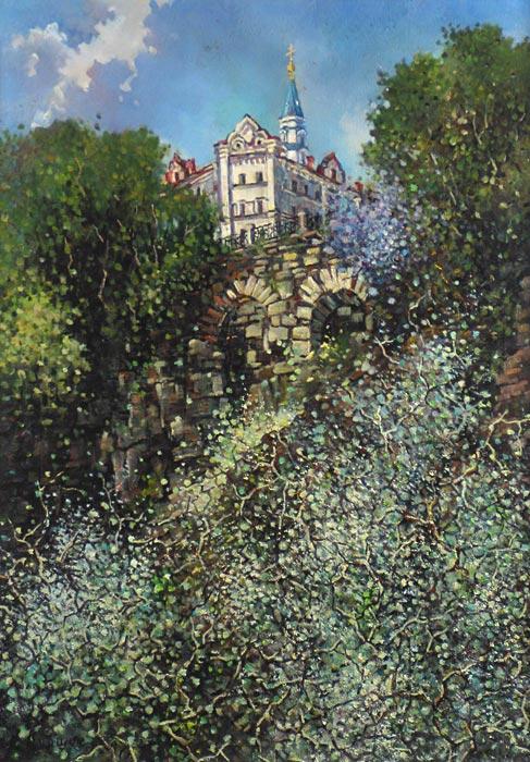 Куршин 83. Нижний сад монастыря. 53x73 Холст. Масло. 1997 г.