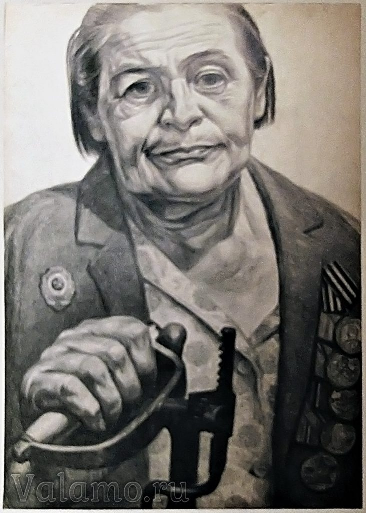 Комиссарова Серафима Николаевна. Рисунок Г. М. Доброва. Валаам. 1974.