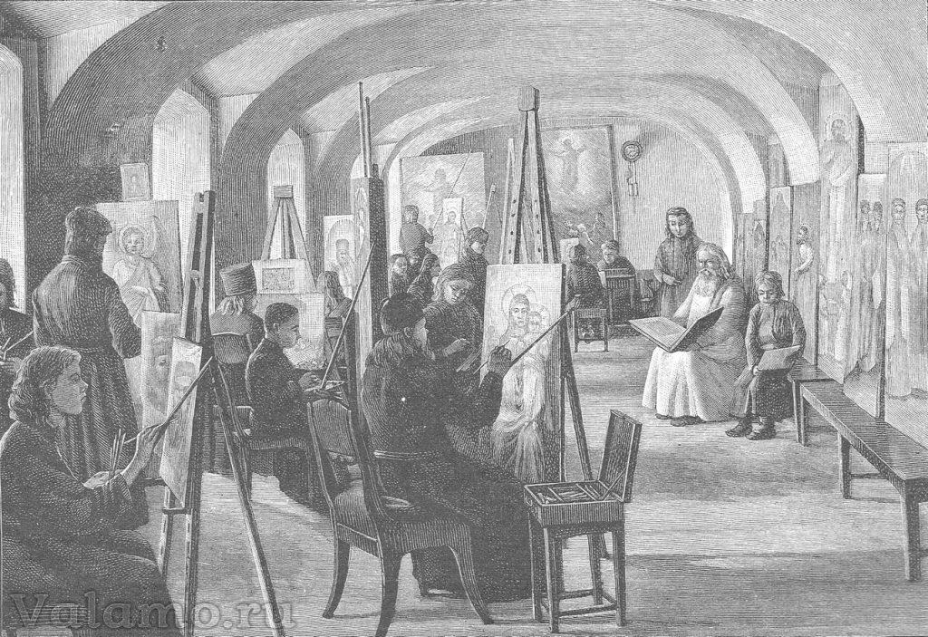 Валаамский монастырь. В. Бондаренко, гравёр Шюблер
