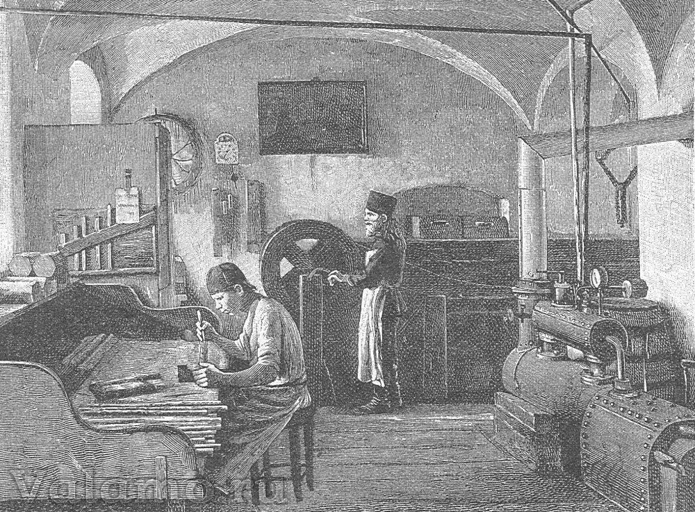 Валаамский монастырь. Бондаренко, гравёр Рашевский