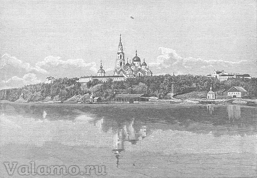 Валаамский монастырь. Бондаренко. грав. Рашевский