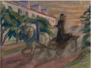 Маркус Коллин. Монах, гонящий коня. 1927.