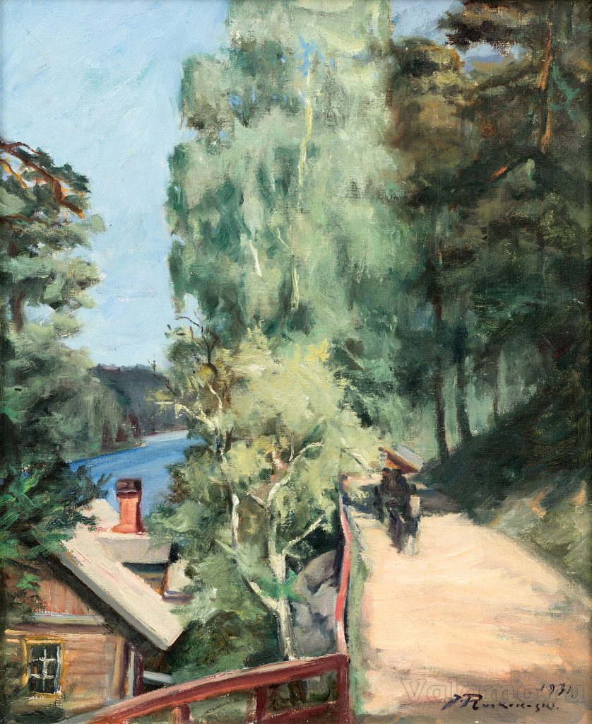 J. Ruokokoski. Летний пейзаж. 1931. Oil on canvas 66x54 cm