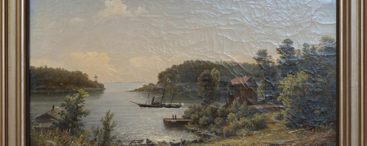 И. И. Шишкин. Никоновская бухта. Валаам. 1858. 56х82,5. Фото: И. Сазеев.
