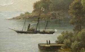 """И. И. Шишкин. Никоновская бухта. Валаам. 1858. """"Александрия"""". Фото: Я. Гайдукова."""