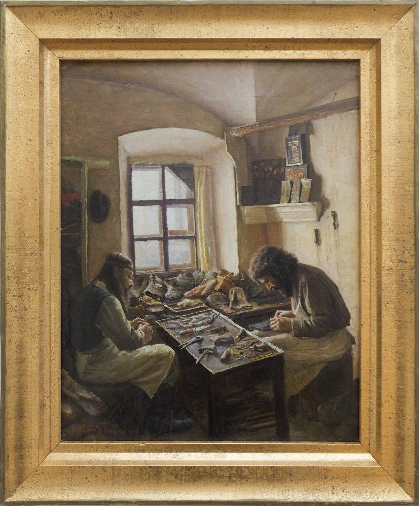 В. А. Бондаренко. В ремесленной мастерской. 1898