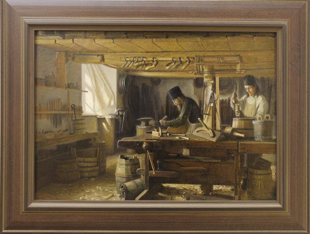 В. А. Бондаренко. Валаамские мастерские. Бочарная мастерская. 1898