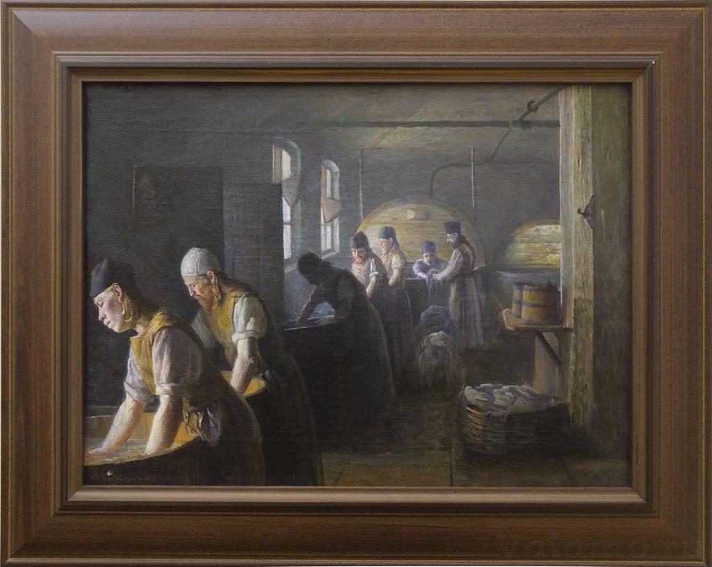 В. А. Бондаренко. Валаамские мастерские. Прачечная. 1898
