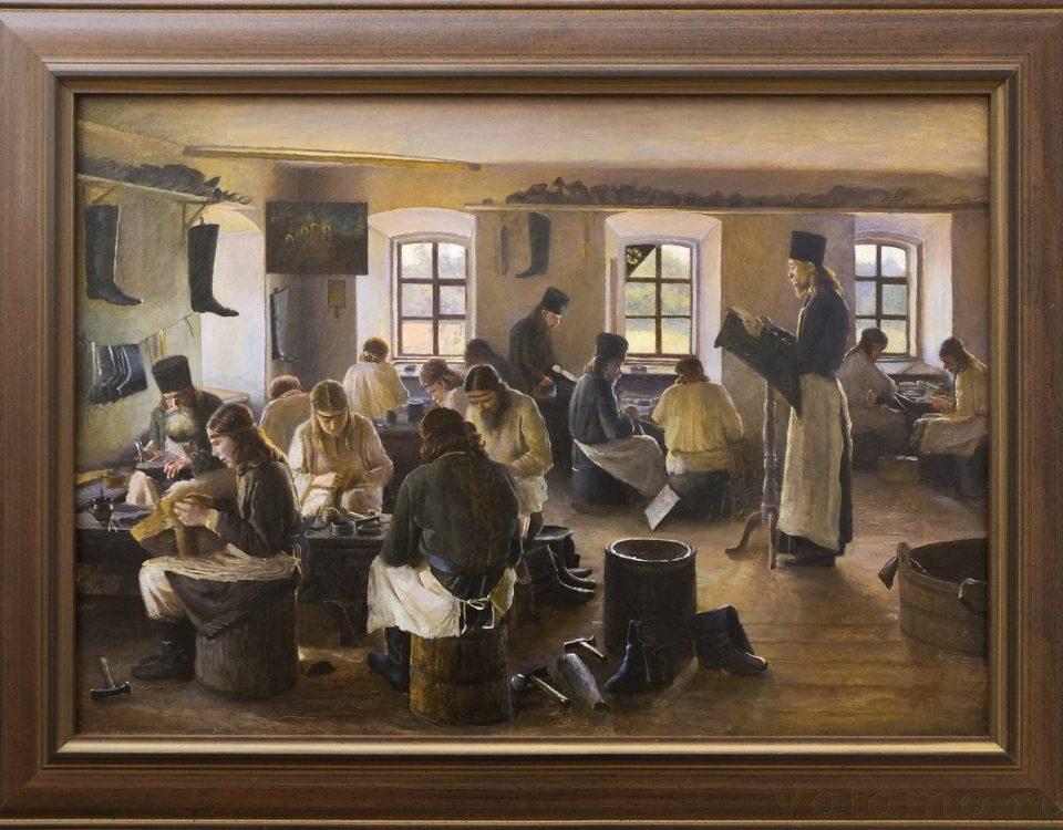 В. А. Бондаренко. Валаамские мастерские. Сапожная мастерская. 1898