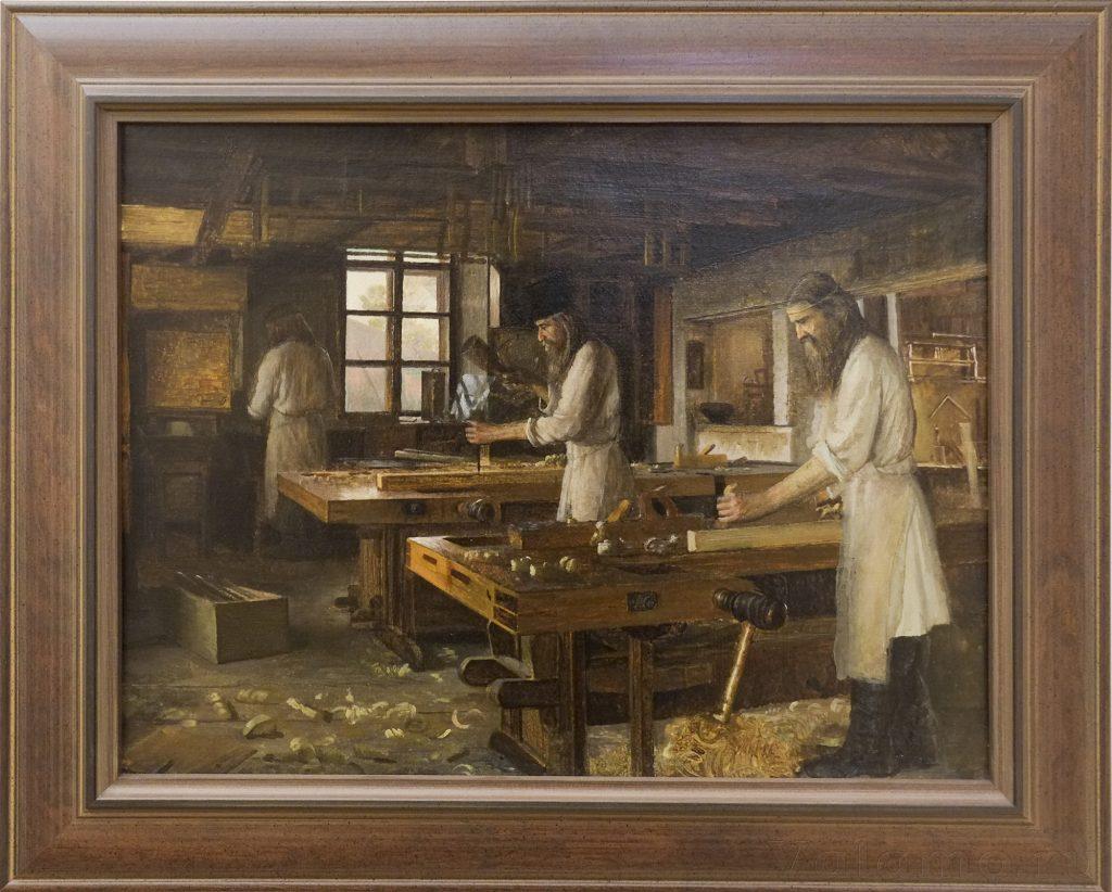В. А. Бондаренко. Валаамские мастерские. Столярная мастерская. 1898