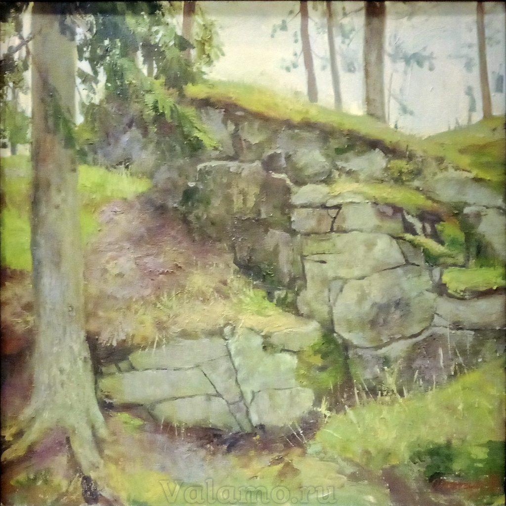 Владимир Остапчук. Валаамские камни. Холст на картоне, 2015, 50х50см
