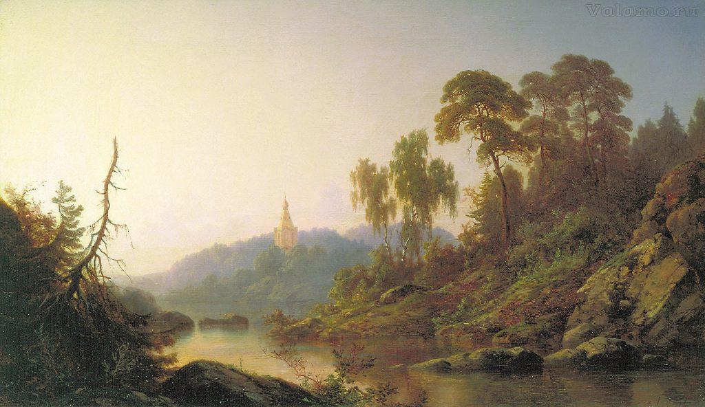 Джогин П.П. На Валааме 1865.40,3х63. Государственная Третьяковская галерея