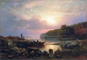 Гине. Финляндский пейзаж.1861.83,5х118. ГРМ