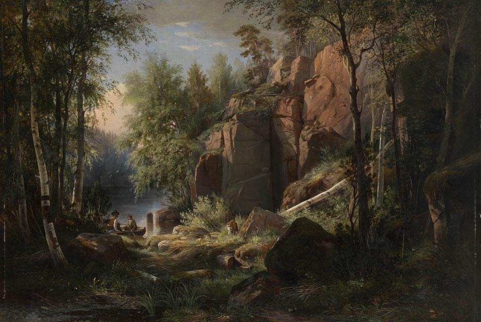 Шишкин.Вид на острове Валаам. Кукко», 1860. Частная коллекция.