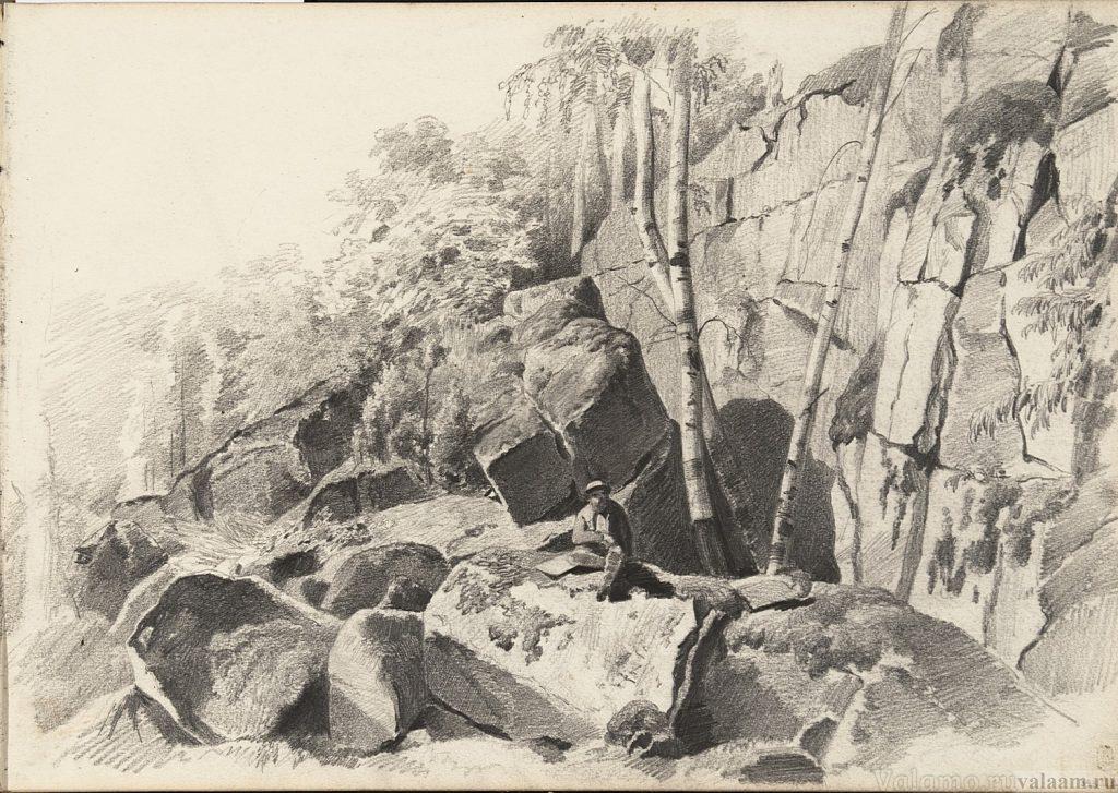 Васильев Ф.А. На острове Валааме. 1867. 26,2x37,4. ГРМ