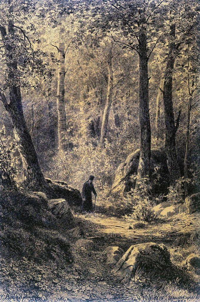 Шишкин И. И. Вид на острове Валааме. 1860-е