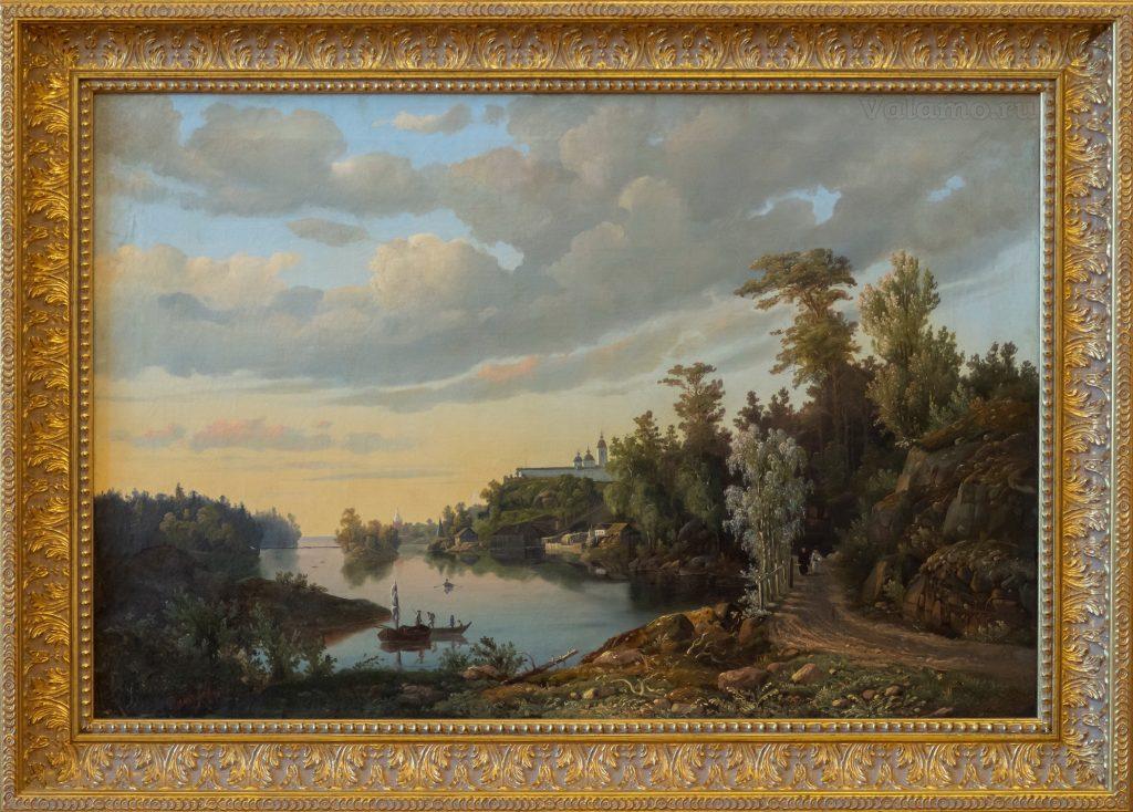 Давыдов Иван. Вид Валаамского монастыря с юго-западной стороны. 1853.