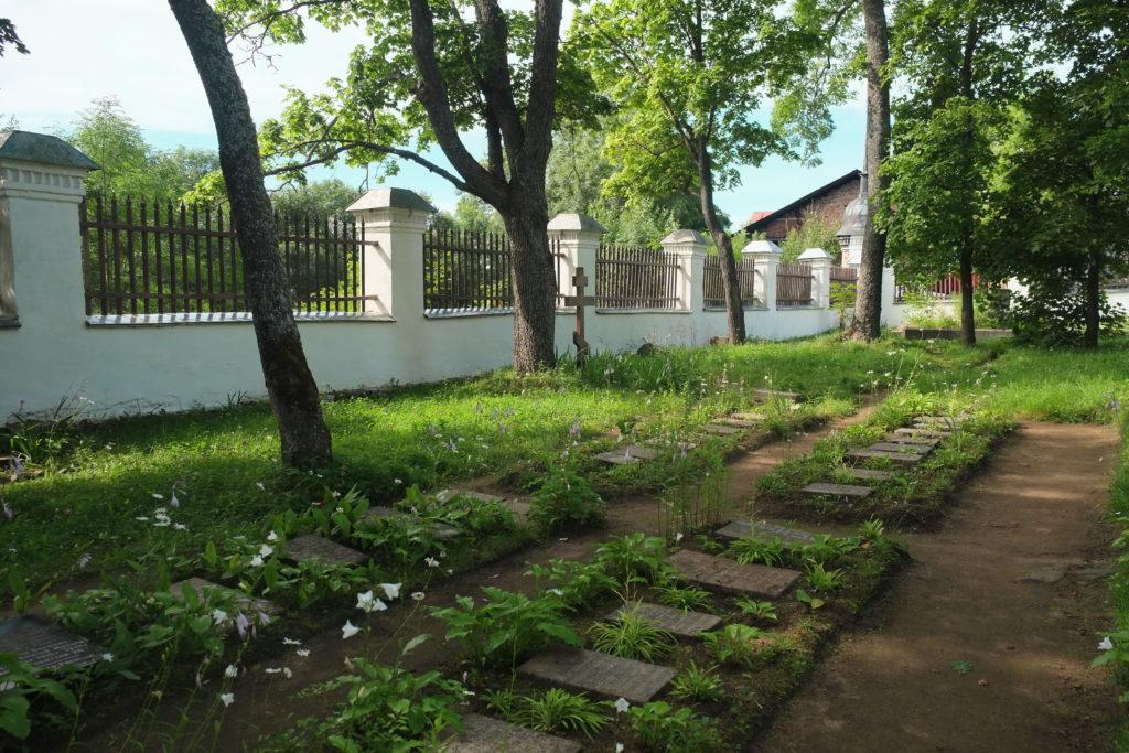 Старое братское кладбище. Валаам.. В церковной ограде.