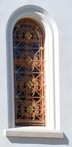 окно полуциркульное Никольского храма. Валаам.
