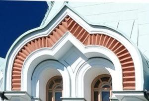 спаренный килевидный кокошник Никольского храма. Валаам.