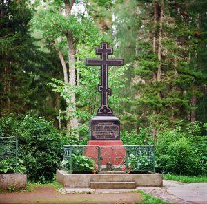 Могила игумена Дамаскина на Игуменском кладбище. Валаам.