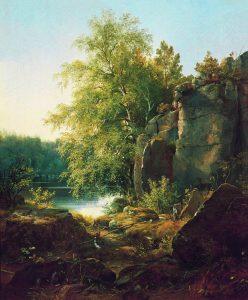 Шишкин. Вид на о. Валааме. 1858.