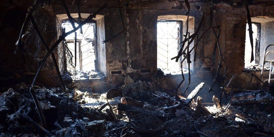 Зимняя гостиница после пожара 2016 г.