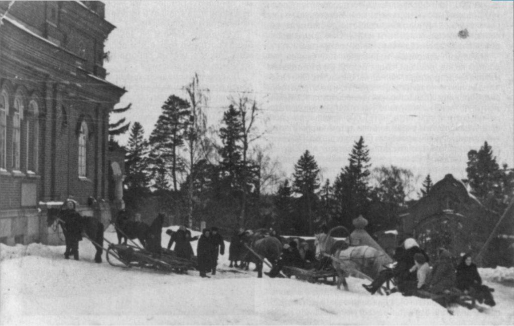 Дом инвалидов на Валааме. Воскресенский скит, 1960-е. приезд к обеспечиваемым самодеятельности Валаамского дома культуры.