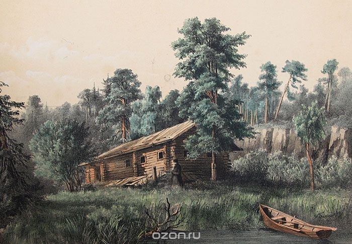 «Пустыня Отца игумена Дамаскина». (Балашов П.И. Собрание видов местностей острова Валаама (1863). Литографированный альбом.)