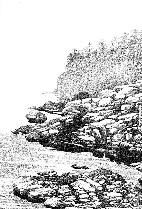Куршин. Скалистый берег 29x21 1993 г