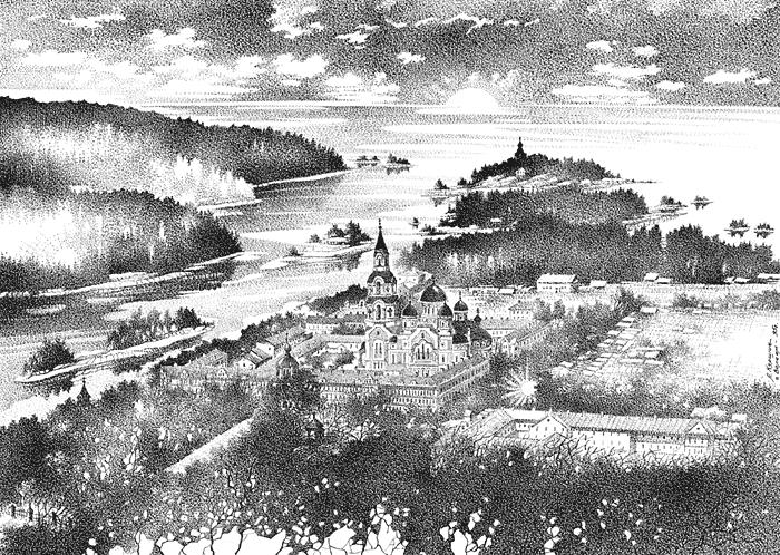 Куршин. Спасо-Преображенский собор 30x41 1995 г