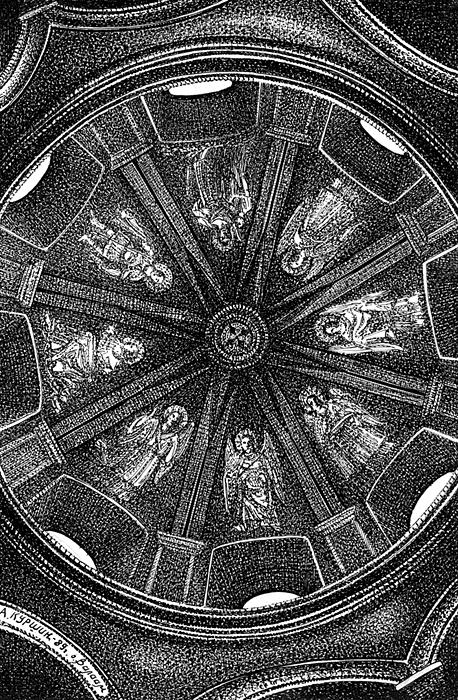 Куршин. Под куполом церкви ``Белого скита`` 20x13 1989 г