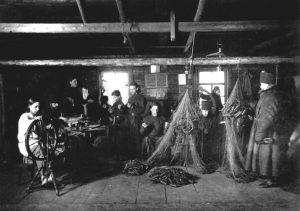 Мастерская по плетению рыболовецких сетей. Хозяйство Валаама