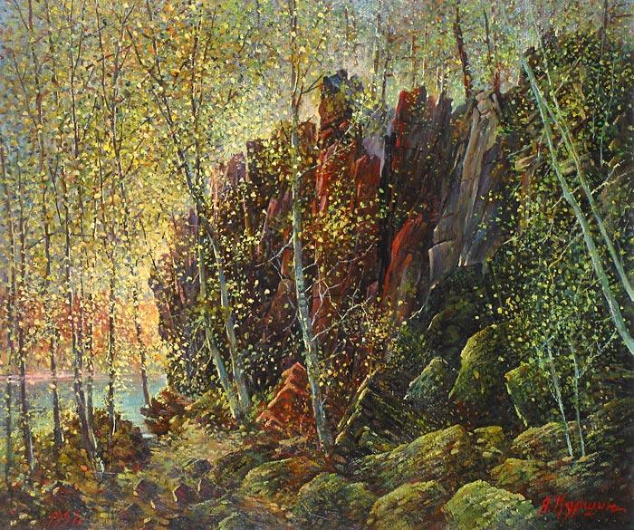 Куршин 119. Местность ``Кукко``. 56x66 Холст. Масло. 1997 г.