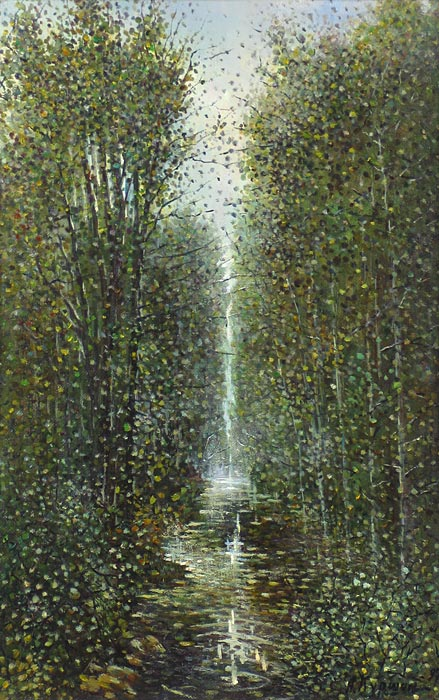 Куршин 82. Река ``Иордан``. 60x39 Холст. Масло. 1997 г.