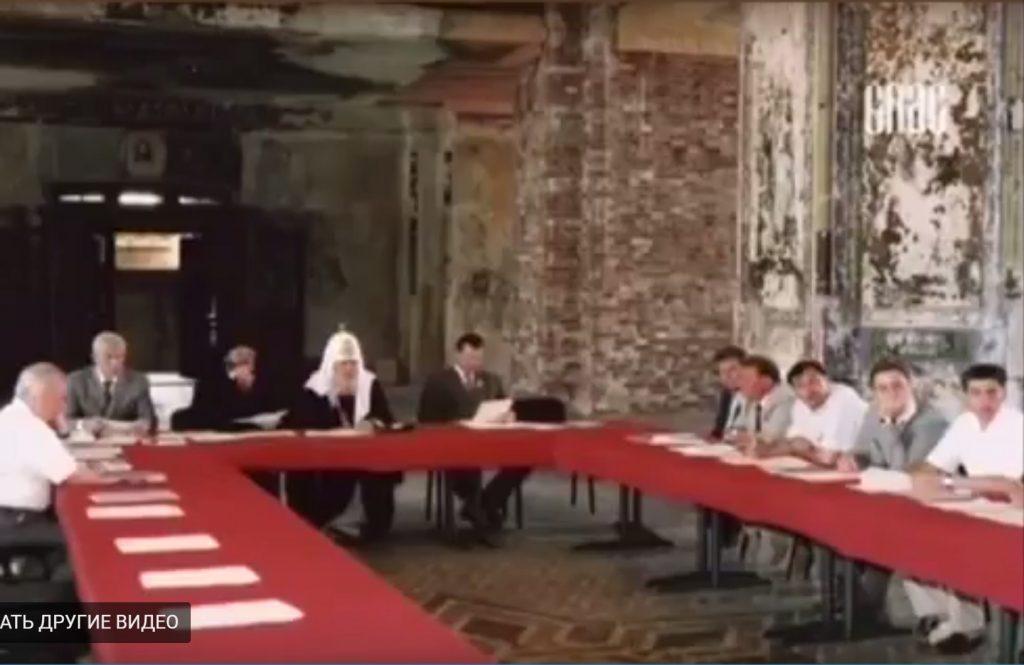Совет в верхнем храме собора на Валааме