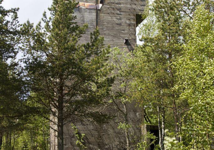 Железобетонная вышка командно-наблюдательного пункта на о.Калисаари. Фото: И. Сазеев.