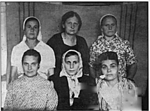 Сотрудники и обеспечивамые Валаамского дома инвалидов. 1950-ые.