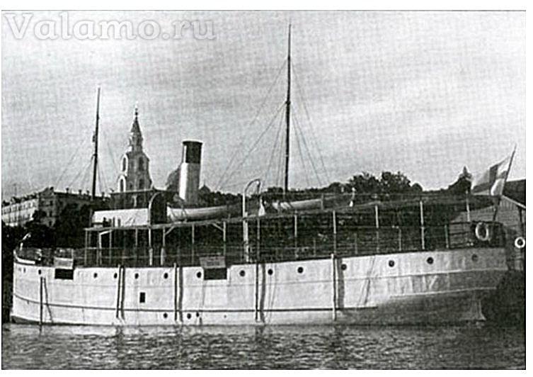 """Пароход """"Otava"""" на Валааме"""