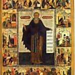 Икона прп Авраамия Ростовского с клеймами