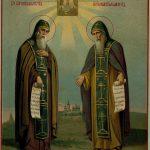 Икона преподобных Сергия и Германа Валаамских. 1895 г.