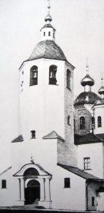 Колокольня первого каменного собора Валаама