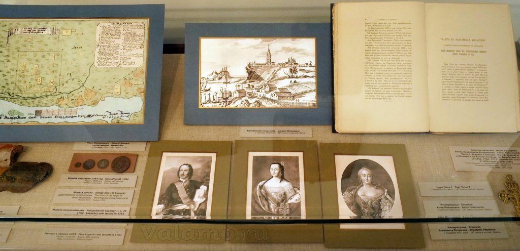 Валаамский монастырь в XVIII в. Музей Валаамского монастыря. Фото витрины: Я. Гайдукова.